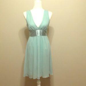 21 aqua cocktail dress